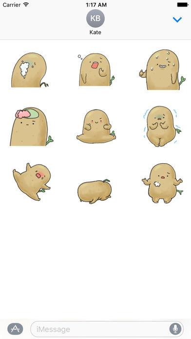 Animation Chubby and Cute Potato Sticker screenshot 2