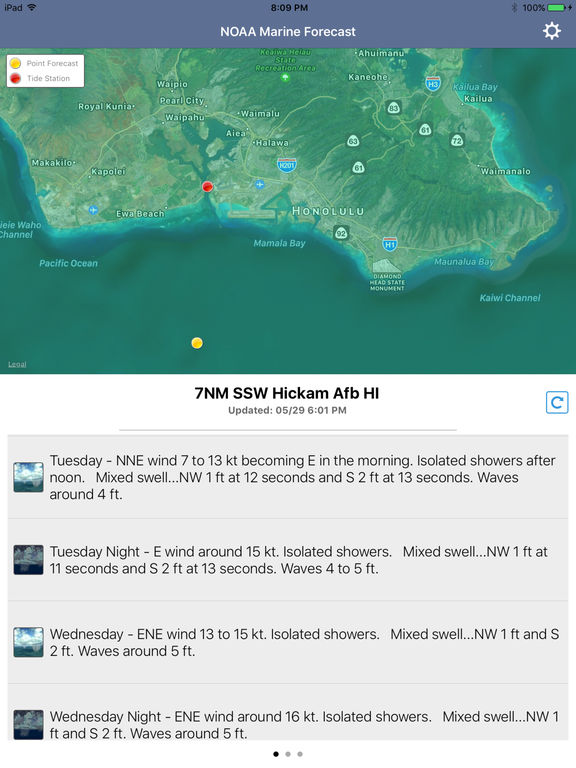 NOAA 5-day Marine Forecast screenshot 6