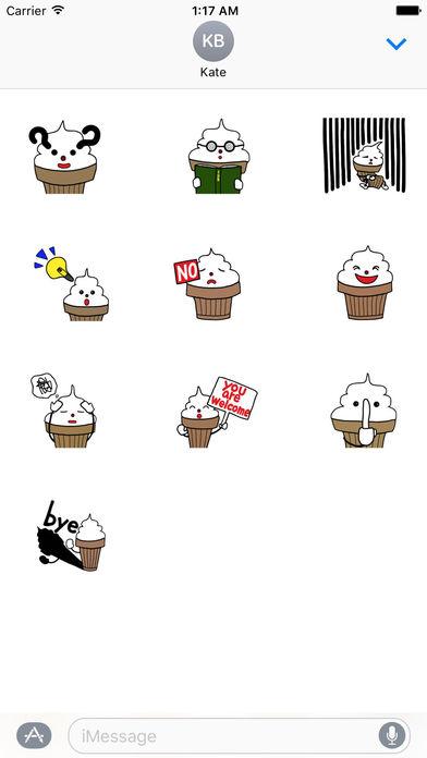 Cute Ice Cream Kid Sticker screenshot 3