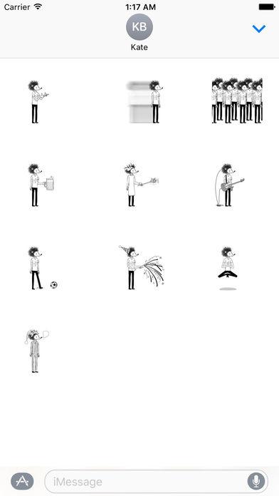 Hedgehog Man Emoji Stickers screenshot 3