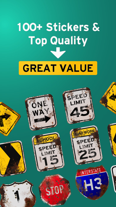 100+ Aged Road Signs Sticker Pack (Rusty) screenshot 3