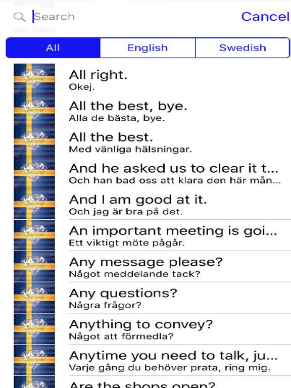 Swedish Phrases Diamond 4K Edition screenshot 4