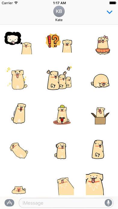 Moving Cute Dog Stickers screenshot 1