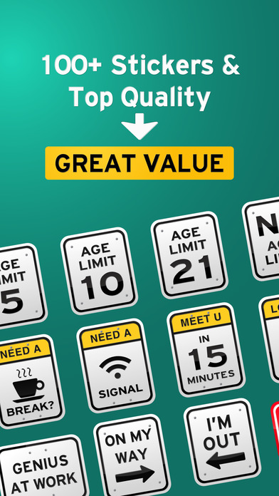 100+ Funny Road Signs Sticker Pack screenshot 3