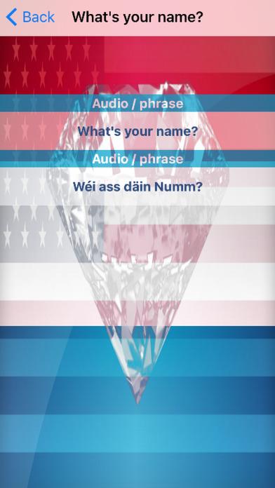 Luxembourgish Phrases Diamond 4K Edition screenshot 3
