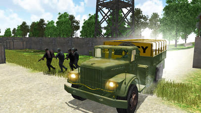 4x4 Military Jeep Driving Simulator in War Land screenshot 4