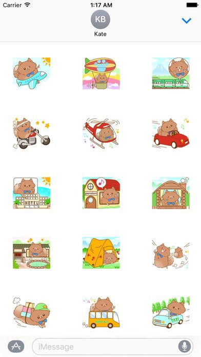 Pompom Dog Traveling Sticker screenshot 1