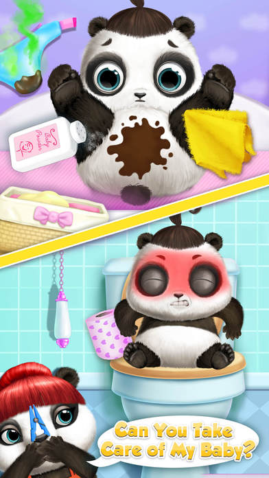 Panda Lu Baby Bear Care 2 - No Ads screenshot 3