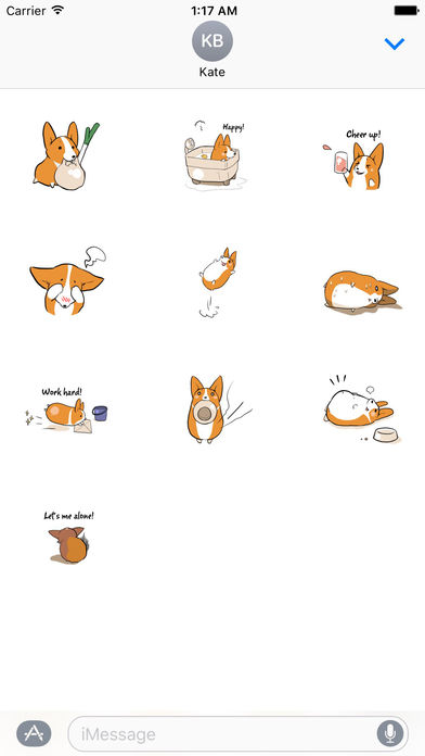 Stanley a Steadfast Corgi Dog Sticker screenshot 3