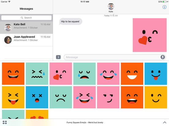 Funny Square Emojis - Weird but lovely screenshot 3
