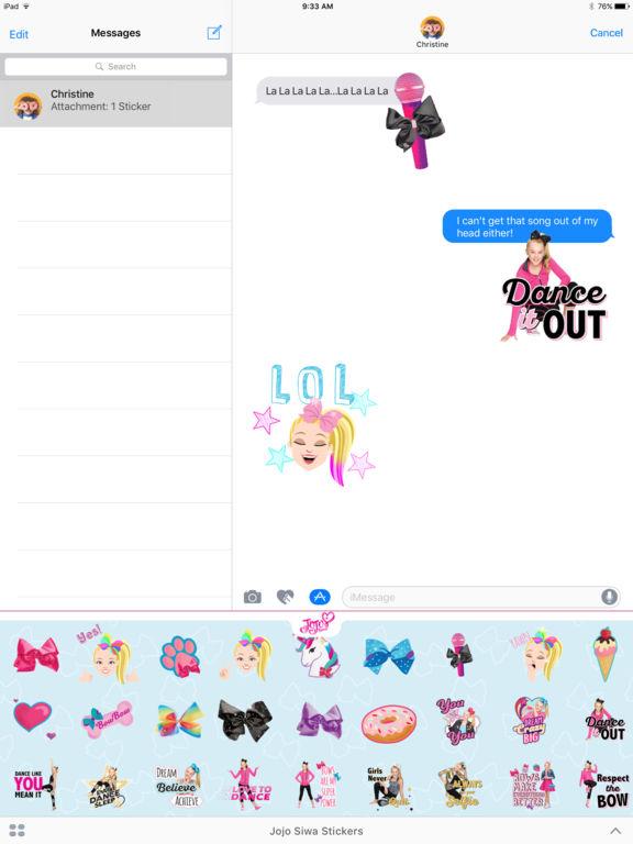 JoJo Siwa Stickers screenshot 7
