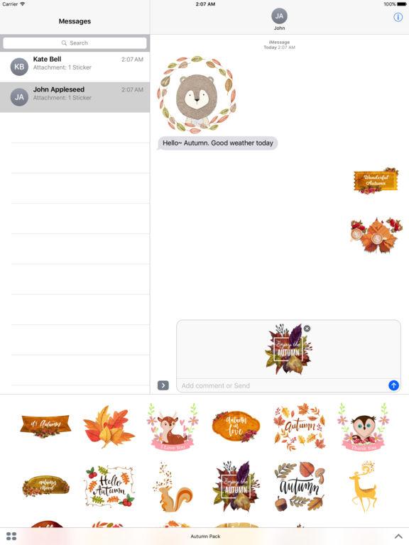 Autumn Love - Animal & Text & Elements Pack screenshot 7