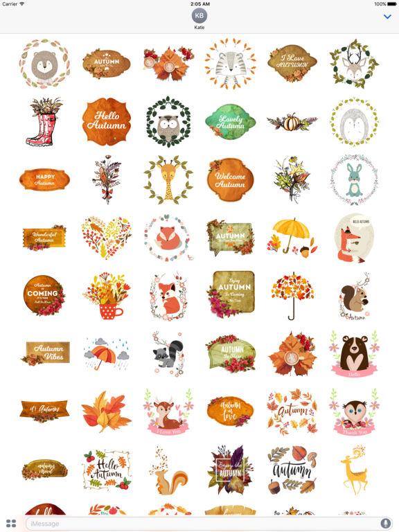 Autumn Love - Animal & Text & Elements Pack screenshot 6