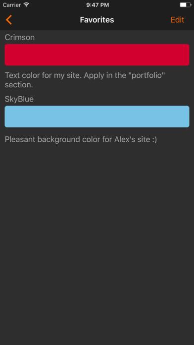 HTML Color codes. WEB Palette screenshot 5