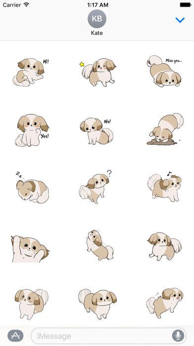 Shih Tzu Dog - Shihmoji Emoji Sticker screenshot 1
