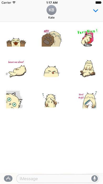 Catmoji - Cute Persian Cat Emoji Sticker screenshot 3