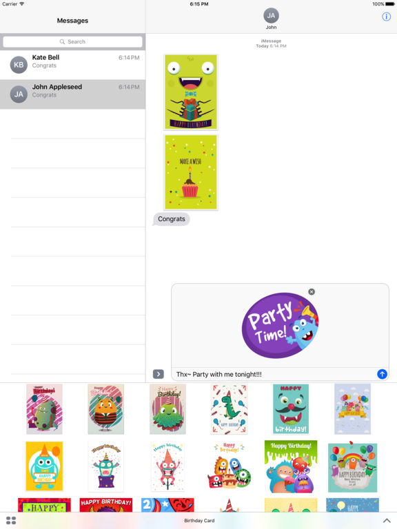 Birthdaye Card - Best Wishes with Cute Monsters screenshot 7