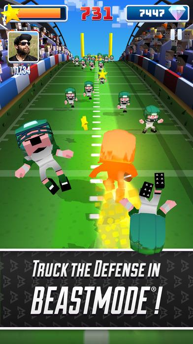 Marshawn Lynch Blocky Football screenshot 4