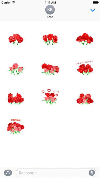 Love and Rose - Rosemoji Sticker screenshot 3