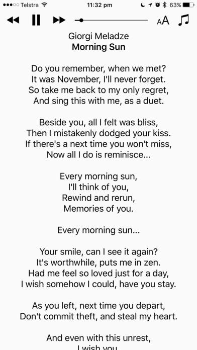 Lyrics View 3 screenshot 1