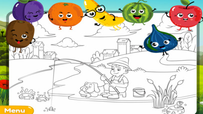 My Colouring Book - Fun Fruit Sketch Pad Game screenshot 2