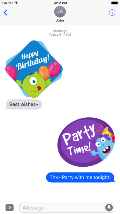 Birthdaye Card - Best Wishes with Cute Monsters screenshot 3