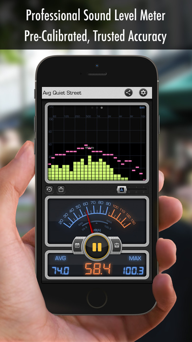 Decibel X PRO: dBA Noise Meter screenshot 1