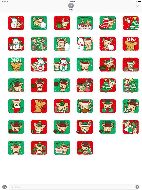 Merry Christmas Cute Corgi Dog Stickers screenshot 4