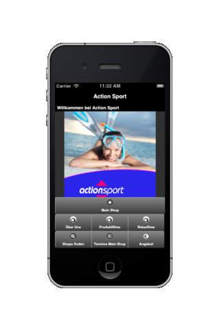 Action Sport App - náhled