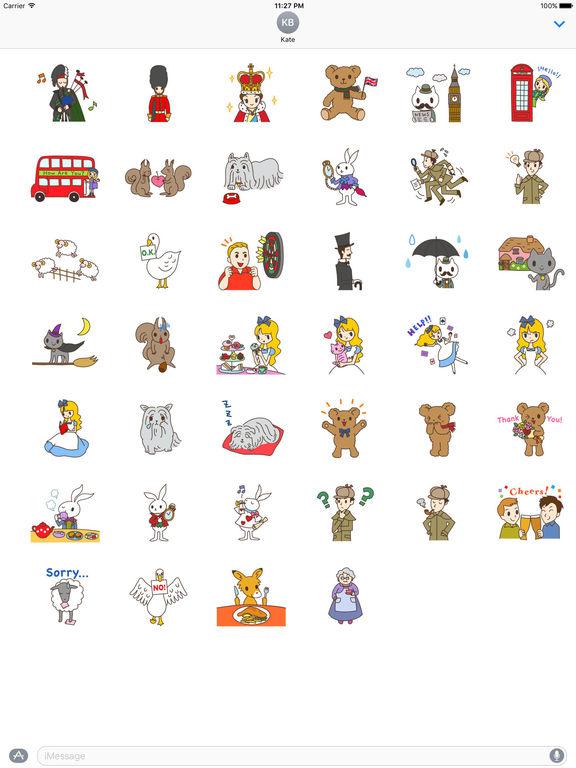 I Love Uk Stickers Pack screenshot 4