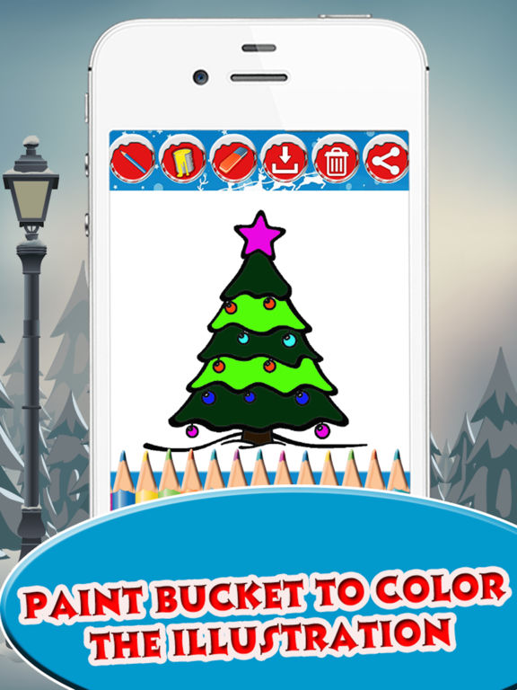 Christmas Tree Coloring book for Toddler & Pre-k screenshot 8