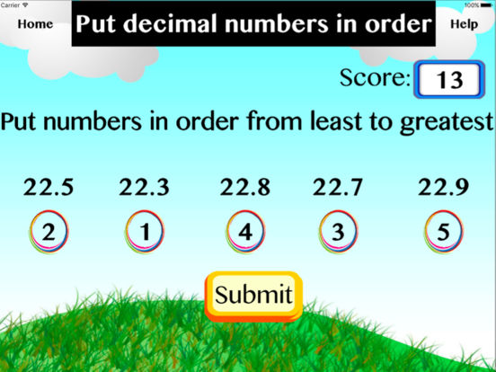 Put decimal numbers in order screenshot 3