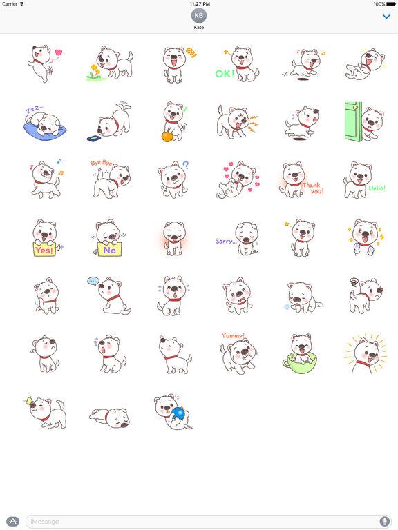 Adorable Puppy Sticker screenshot 4