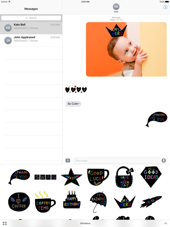 StiPia - BlackChat Stickers screenshot 6