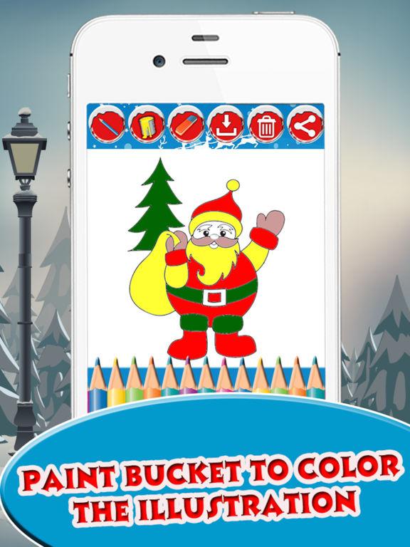 Santa Claus coloring pages screenshot 7