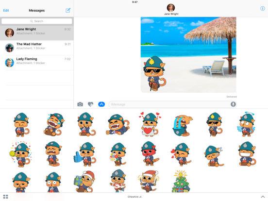 Cheshire Jr. Animated Stickers Pack screenshot 5