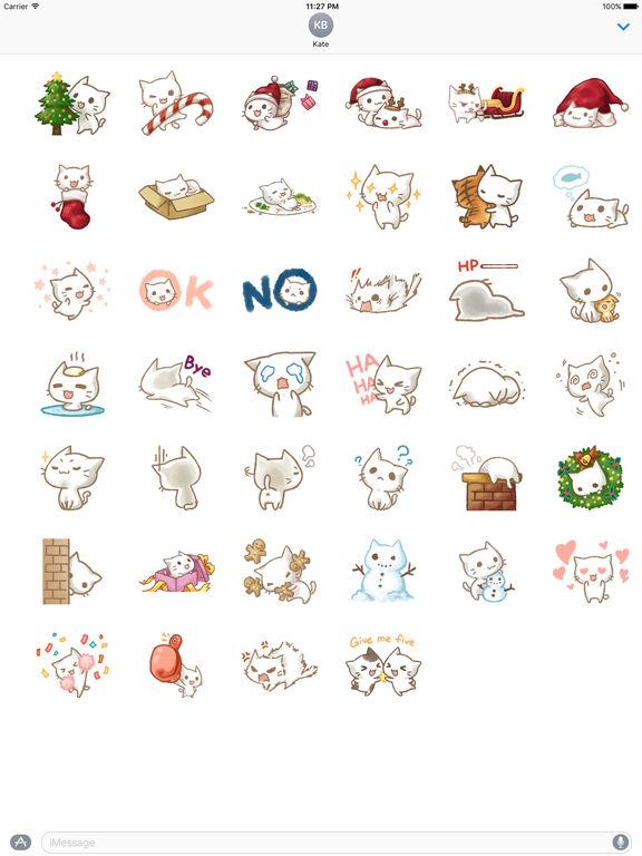 Christmas Of Cute Cat Stickers screenshot 4