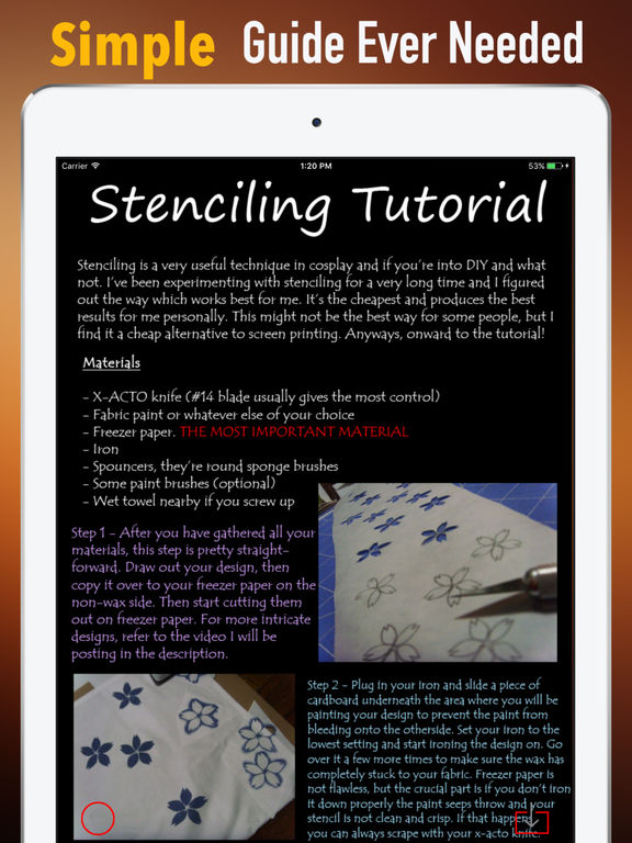 Creative DIY Stencil Fabric-Design Guide and Tips screenshot 6