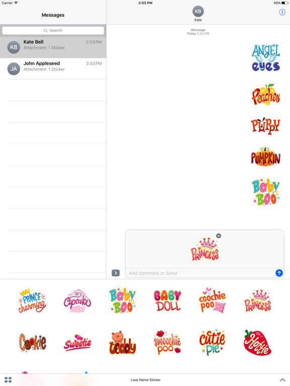 Love Name Stickers screenshot 4