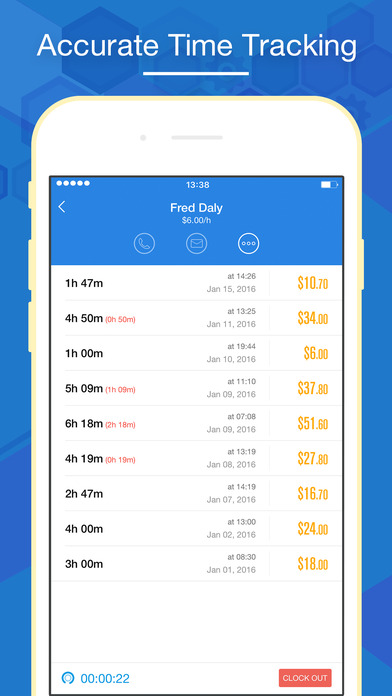 tracking app for iphone hours keeper time tracking timesheet amp billing on the 16284