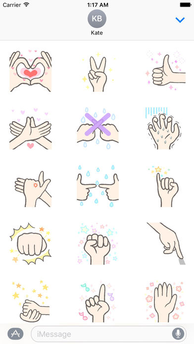 Animated Language Of Hands Sticker screenshot 1