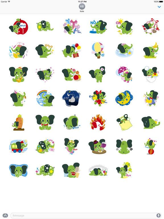 Colorful Elephant Sticker screenshot 4