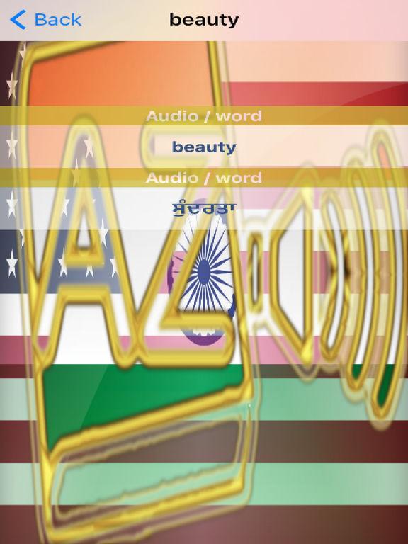 Punjabi Dictionary GoldEdition screenshot 10