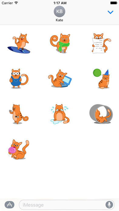 Many Cute Cats Sticker Pack screenshot 3
