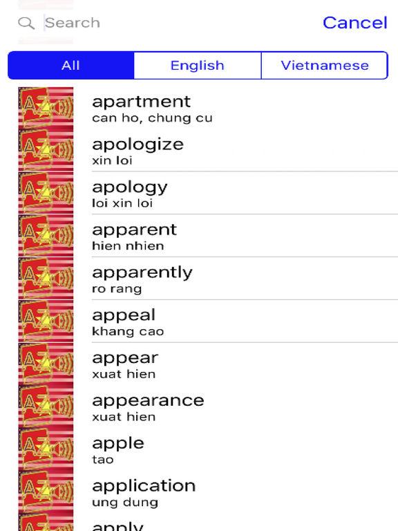 Vietnamese Dictionary GoldEdition screenshot 9