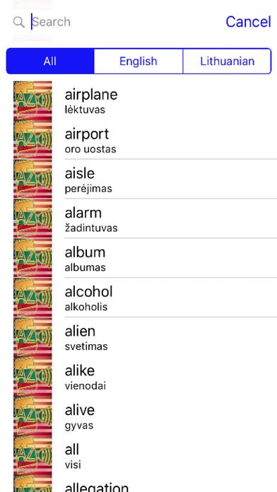 Lithuanian Dictionary GoldEdition screenshot 3