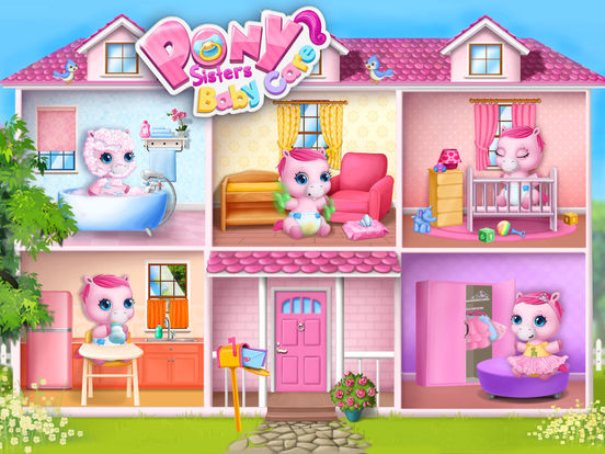 Pony Sisters Baby Horse Care - Babysitter Daycare screenshot 7