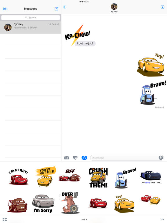 Pixar Stickers: Cars 3 screenshot 7