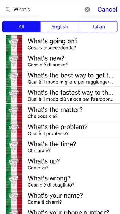 Italian Phrases screenshot 2
