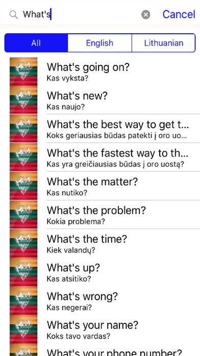 Lithuanian Phrases Diamond 4K Edition screenshot 2